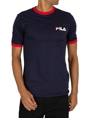 Fila Rosco T-Shirt - Peacoat/Red/White