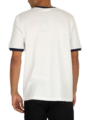 Fila Rosco T-Shirt - White/Red/Peacoat