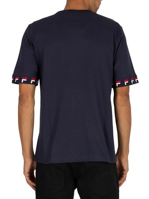 Fila Rosso Graphic T-Shirt - Peacoat/White/Red