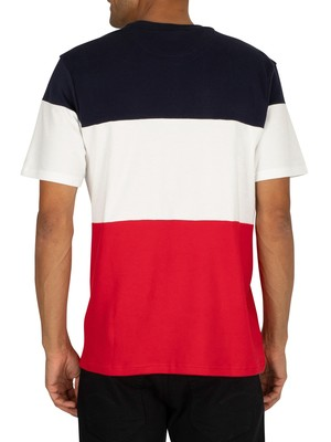Fila Vialli T-Shirt - Peacoat/White/Red
