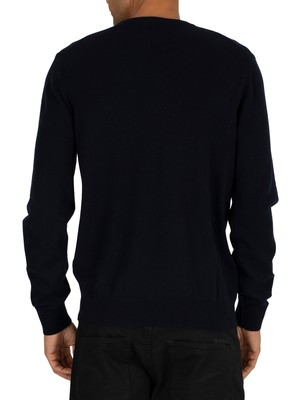 Gant Superfine Lambswool Knit - Marine