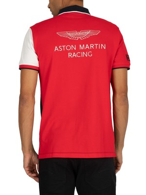 Hackett London Aston Martin Racing Polo Shirt - Navy