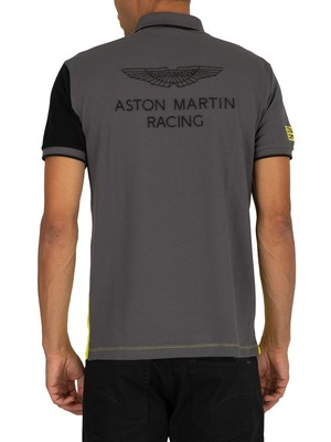 Hackett London Aston Martin Racing Polo Shirt - Lime