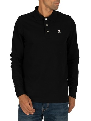 Psycho Bunny Longsleeved Polo Shirt - Black