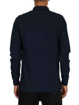Psycho Bunny Longsleeved Polo Shirt - Navy