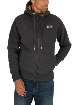 Schott Justin Hooded Jacket - Anthracite
