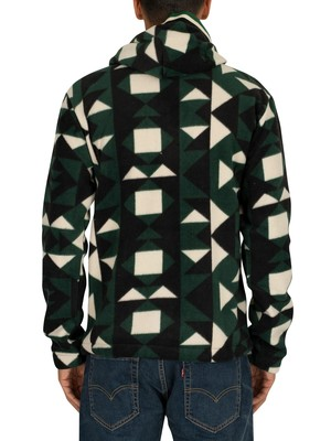 Scotch & Soda 1/4 Zip Fleece Hoodie - Green