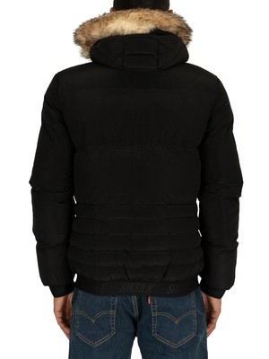 Sik Silk Distance Parka Jacket - Black