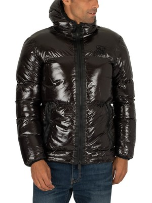 Sik Silk Driven Puffer Jacket - Black