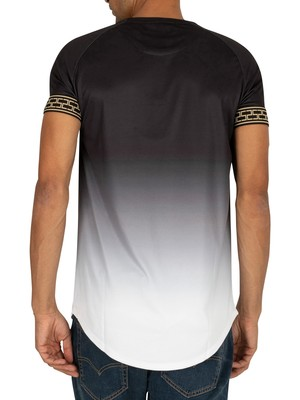Sik Silk Fade Tech T-Shirt - Black/White