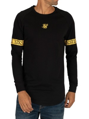 Sik Silk Longsleeved Tech T-Shirt - Black