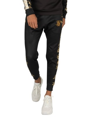 Sik Silk Poly Cuffed Joggers - Black/White/Gold