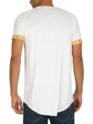 Sik Silk Tech T-Shirt - White/Gold