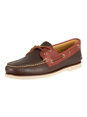 Sperry Top-Sider Gold A/0 2-Eye Boat Shoes - Brown/Tan