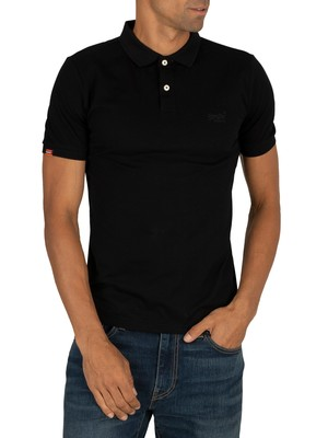 Superdry Classic Lite Micro Pique Polishirt - Black