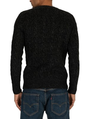 Superdry Jacob Knit - Magma Black Twist