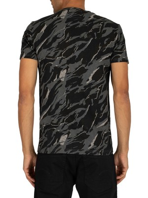 Superdry Rookie T-Shirt - Grey Camo