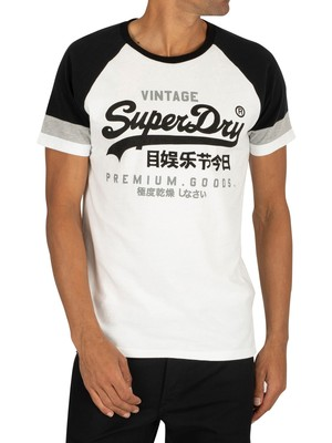 Superdry Tri Colour Raglan T-Shirt - Optic