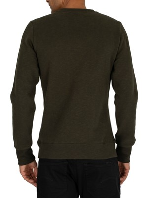 Superdry Urban Athletic Sweatshirt - Surplus Goods Olivve Slub