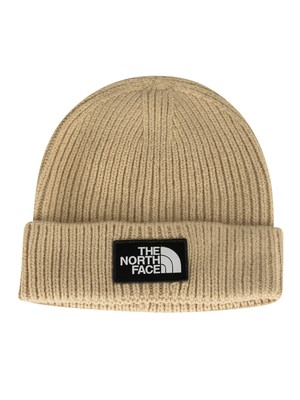 The North Face Logo Box Beanie - Beige