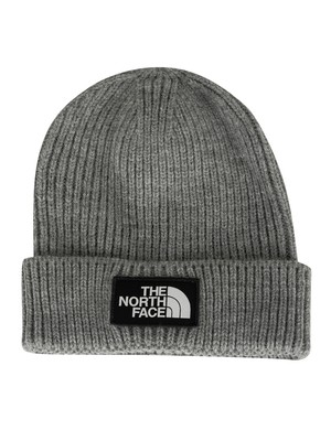 The North Face Logo Box Beanie - Medium Grey