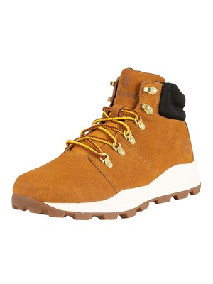 Timberland Brooklyn Low Hiker Leather Boots - Wheat Nubuck