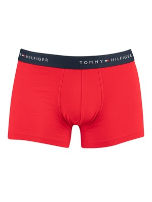 Tommy Hilfiger 2 Pack Everyday Trunks & Socks - Tango Red
