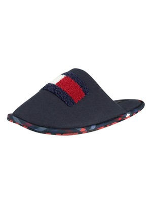 Tommy Hilfiger Flag Badge Home Slippers - Midnight