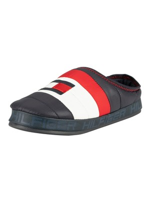 Tommy Hilfiger Flag Padded Home Slippers - Midnight