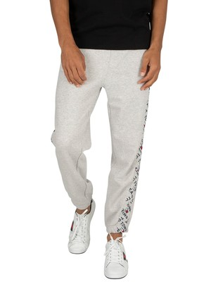 Tommy Jeans Logo Print Joggers - Light Grey Heather