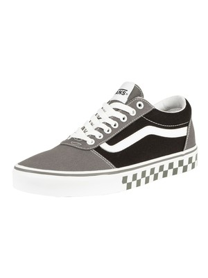 Vans Ward Checker Tape Trainers - Pewter/Black