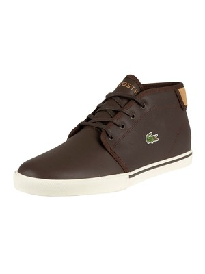 Lacoste Ampthill 319 1 CMA Leather Trainers - Dark Brown/Light Tan