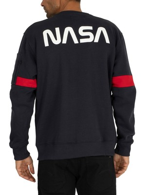 Alpha Industries Apollo 15 Sweatshirt - Rep Blue