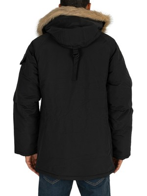 Carhartt WIP Anchorage Parka Jacket - Black/Black