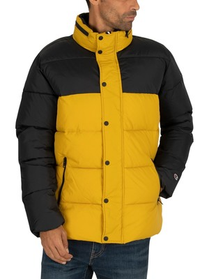 Champion Puffer Jacket - Black/Yellow