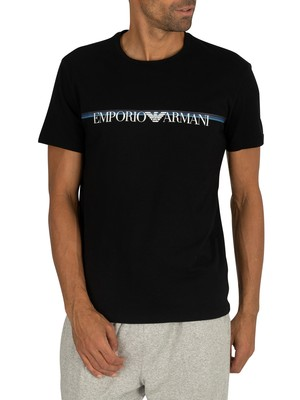 Emporio Armani Crew Neck Lounge T-Shirt - Black