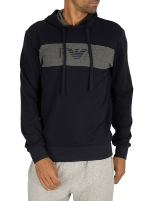 Emporio Armani Pullover Lounge Hoodie - Marine