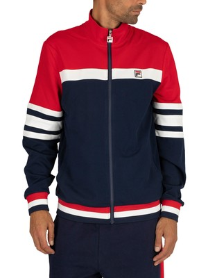 Fila Courto Cut and Sew Archive Track Jacket - Peacoat/Red/White