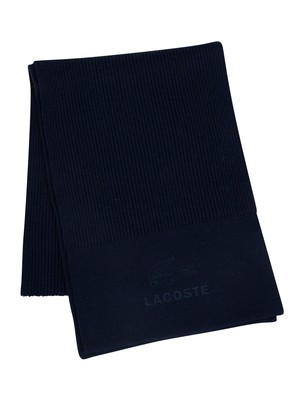 Lacoste Logo Scarf - Navy