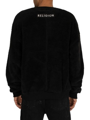 Religion Bear Sweatshirt - Black
