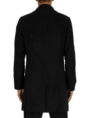 Religion Captain Pea Coat - Black