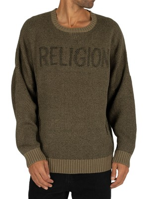 Religion Deck Knit - Khaki/Black