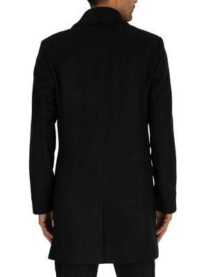 Religion Drifter Pea Coat - Black/Black