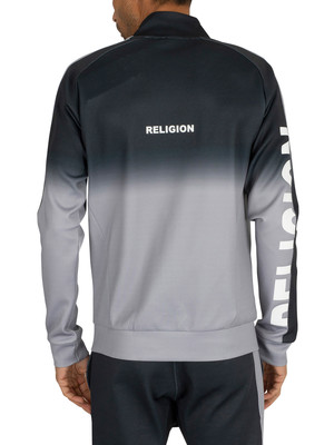 Religion Gradient Track Jacket - Black/Slate