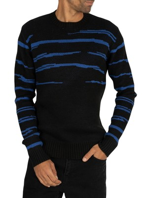 Religion Haze Knit - Black/Blue