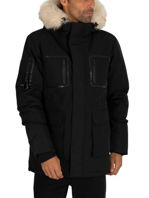 Religion Hunter Parka Jacket - Black