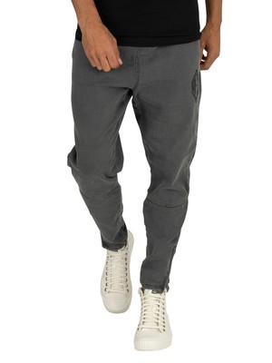 Religion Match Denim Joggers - Grey