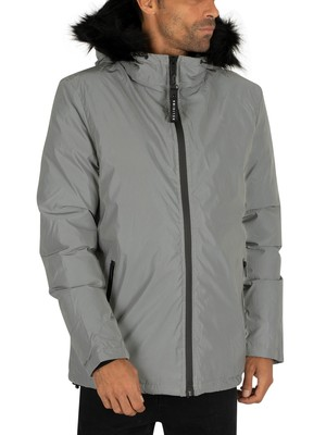 Religion Summit Fur Jacket - Silver Reflective