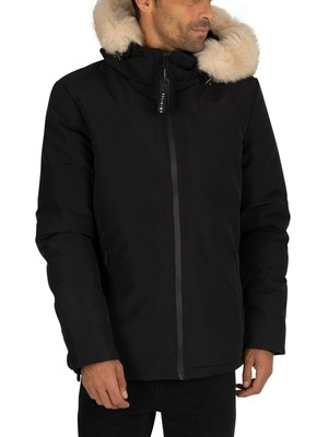 Religion Summit Fur Jacket - Black