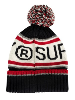Superdry Logo Beanie - Rich Navy